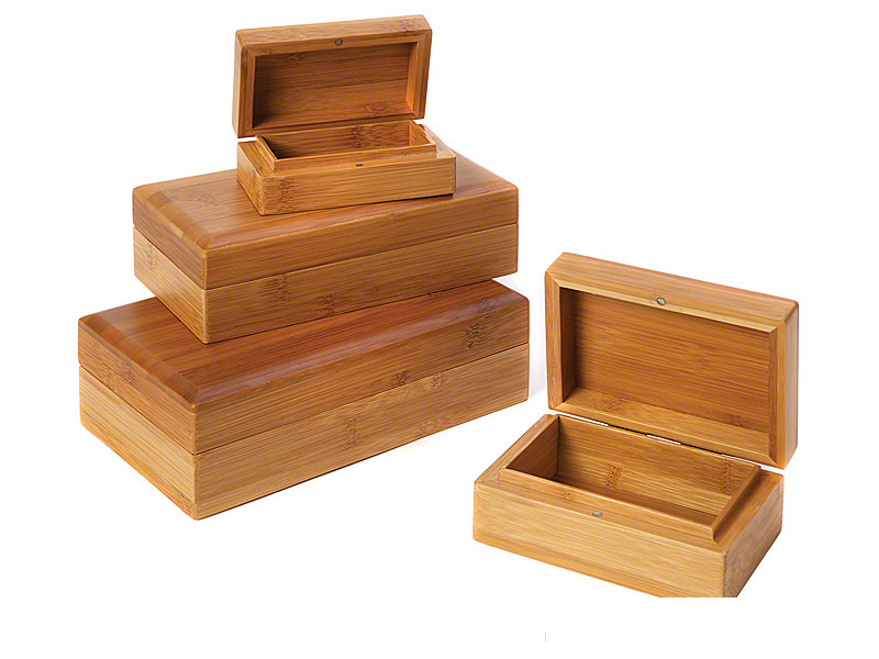 Solid Bamboo Wood Pet Ashes Caskets